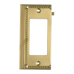 """Elk Lighting - EL-2508BR Clickplates Brass End Switch Plate Lighting Accessory - Decorative outlet covers customizable to your receptacle configuration. """"we've got you covered"""" with the most popular models and finishes. Quality cast metal construction will add a finishing touch to your decor. Clickplates will look great in every room in your home."""