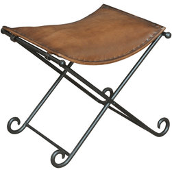 Sarreid - Sarreid Leather Field Chair -