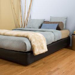 Howard Elliott - Black Faux Leather Cover Platform Bedroom Set (King) - Choose Size: King