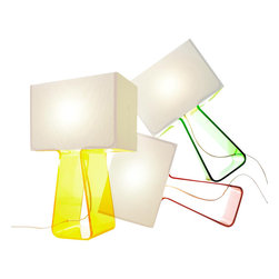 Pablo Design - Tube Top Color Table Lamp - Tube Top Color Table Lamp by Pablo Designs
