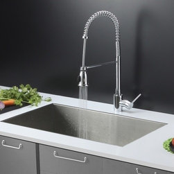 Ruvati - Ruvati RVC2606 Stainless Steel Kitchen Sink and Chrome Faucet Set - Ruvati sink and faucet combos are designed with you in mind. We have packaged one of our premium 16 gauge stainless steel sinks with one of our luxury faucets to give you the perfect combination of form and function.