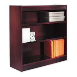 Alera - Alera BCS33636MY Square Corner Wood Veneer Bookcase - Mahogany Brown - ALEBCS336 - Shop for Bookcases from Hayneedle.com! About AleraWith the goal of meeting the needs of all offices -- big or small casual or serious -- Alera offers an excellent line of furnishings that you'll love to see Monday through Friday. Alera is committed to quality innovative design precision styling and premium ergonomics ensuring consistent satisfaction.