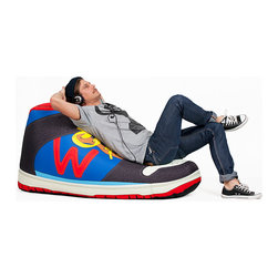 Sneaker Bean bag - This life-size sneaker is sporty fun and fits perfectly in a child's room, a home office, or a family room!