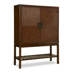Universal - Universal Silhouette Dining/Bar Cabinet in Truffle Finish - With perfectly tailored styling that satisfies our desire to dress up a bait, Silhouette is at once classic, current, and quietly elegant. Designed for consumers who appreciate tradition yet have a modern point of view, the collection is polished and uncluttered.