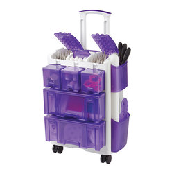 Wilton - Wilton Decorate Smart Ultimate Rolling Tool Caddy - The Wilton Decorate Smart Ultimate Rolling Too Caddy is a premier organizational tool with multiple storage options and on-the-go convenience. A telescoping handle and rotating wheels make moving and placing the caddy exactly where you need it simple.