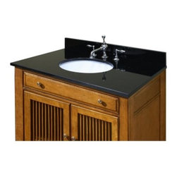 Sagehill Designs 49W x 22D in. Vanity Top with Undermount Sink - The Sagehill Designs 49W x 22D in. Vanity Top with Undermount Sink lets you customize your bathroom with a fine set of options that provide a variety of handsome centerpieces to your classical style design. Four stunning options are available to choose from each made of solid pre-polished stone and featuring a protective clear sealant. Choose between: white Carrera marble desert beige granite midnight black granite or sable brown granite. Each option comes with an oval white porcelain sink pre-mounted on the underside and featuring a 7.25-inch depth. The countertop arrive pre-drilled with 3-holes allowing you to easily install any standard faucet set with an 8-inch widespread design (faucet is not included). A matching four-inch high backsplash is included. A three-step installation design makes fitting the unit to your bathroom as easy as one-two-three. About Sagehill DesignsWith Sagehill Designs it's all in the details. Since 1986 Sagehill Designs has been crafting superior quality kitchen and bath furnishings. Rich in detail that matter you'll find heirloom-quality finishes impeccable craftsmanship and generous storage wrapped in a smart design. You get it all with a Sagehill Design original. Sagehill Design's specialists in helping you create the perfect kitchen or bath environment.