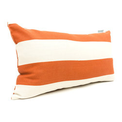 Majestic Home - Outdoor Burnt Orange Vertical Stripe Small Pillow - Add a splash of color and a little texture to any environment with these great indoor/outdoor plush pillows by Majestic Home Goods. The Majestic Home Goods Small Pillow will add additional comfort to your living room sofa or your outdoor patio. Whether you are using them as decor throw pillows or simply for support, Majestic Home Goods Small Pillows are the perfect addition to your home. These throw pillows are woven from Outdoor Treated polyester with up to 1000 hours of U.V. protection, and filled with Super Loft recycled Polyester Fiber Fill for a comfortable but durable look. Spot clean only.