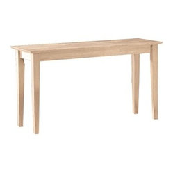 International Concepts Darien Shaker Sofa Table