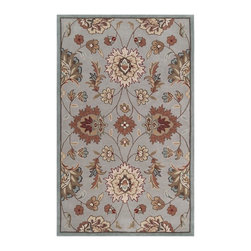 Surya - Surya Kingston Rug X-85-0002TGK - The styling of the Kingston collection is undoubtedly eclectic, incorporating the latest fashion colors of modern interiors with the classic lines of today's fabrics and accents. Set against a solid background the curving florals appear to dance across the rug. These painstakingly hand tufted beauties can be called colorfully neutral, and will compliment any space where traditional meets modern. Made in China from 100% polyester.