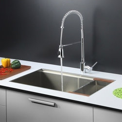 Ruvati - Ruvati RVC2376 Stainless Steel Kitchen Sink and Chrome Faucet Set - Ruvati sink and faucet combos are designed with you in mind. We have packaged one of our premium 16 gauge stainless steel sinks with one of our luxury faucets to give you the perfect combination of form and function.