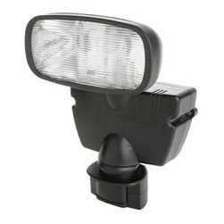 Coleman Cable - 15W Hal Motion Activated Flood - L951 - 15 watt Halogen Motion Activated Solar Flood light includes 15 watt halogen bulb. 180 Motion Detector detects motion up to 60 feet way. Multi-crystal solar panel designed for outdoor use. Rechargeable battery included. Up to 50 - 30 second cycles on a full charge.