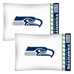 Store51 LLC - NFL Seattle Seahawks Football Set of 2 Logo Pillowcases - Features: