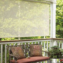 Sonoma - Sahara Sand Outdoor Roll-up Blind (48 in. x 72 in.) - For shading a sunroom,gazebo,porch,or other structure,you cannot beat the easy style of this outdoor roll-up blind. This blind is crafted from weather-resistant fabric and allows air and light to come through while blocking damaging UV rays.