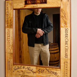 Wine Crate Mirror - Ignite Images