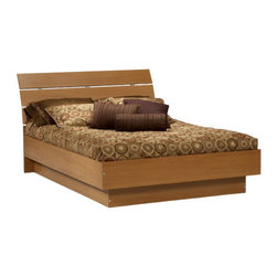 Tvilum - Scottsdale Platform Bed - Features: -Material: Composite Wood. -Curved headboard. -Environmentally friendly materials and manufacturing methods. -Dowel and euro-cam lock construction. -Sturdy platform base.