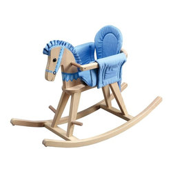 Teamson Kids - Baby-to-Kids Natural Wood Convertible Rocking Horse - This Baby-to-Kids Natural Wood Convertible Rocking Horse by Teamson Kids will find the perfect nook in every toddlers heart, (and room)! Better yet...it will grow along with the baby, making a very useful gift to give at a baby shower too! Not only is it a rocking bassinet, but as the child grows he is also able to use it as a rocking horse. Just remove the railing and voila! It transforms into a beautiful wooden rocking horse.   * Dimensions: L 34.5 X W 12.5 X H 22.5