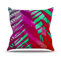 "Kess InHouse - Alison Coxon ""Hot Tropical"" Pink Red Throw Pillow (20"" x 20"") - Rest among the art you love. Transform your hang out room into a hip gallery, that's also comfortable. With this pillow you can create an environment that reflects your unique style. It's amazing what a throw pillow can do to complete a room. (Kess InHouse is not responsible for pillow fighting that may occur as the result of creative stimulation)."