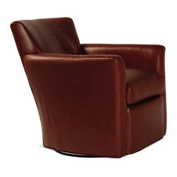 WILLEM SMITH - Quintana Swivel Shair - The Quintana Swivel Chair is its own man (or woman). It sits big, but it's discreet. The curved tight back gives you a 'hello' hug every time you sit: not a welcome-home-after-six-months-on-a-sub type bear hug, but genuine, friendly nice-to-see-you-again embrace. The seat cushion is – you've heard this before – second to none, and the Quintana's unobtrusive form fits in any space, physically and aesthetically. Sit it to believe it!