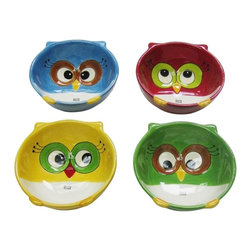 Cosmos - Multicolor and Festive 4 Piece Set Christmas Owl Bowls - This gorgeous Multicolor and Festive 4 Piece Set Christmas Owl Bowls has the finest details and highest quality you will find anywhere! Multicolor and Festive 4 Piece Set Christmas Owl Bowls is truly remarkable.