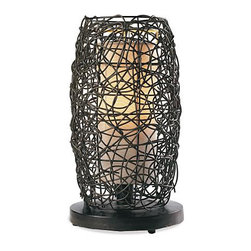 Outdoor Atmosphere Lamps - Grandin Road - These outdoor wicker lamps look so light and airy. I love the different shapes and the idea that you can buy different shapes and group them together for an interesting lighting focal point. Hang some from shepherd's crooks and place the hurricane lamp on a side table.