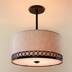 North Country Flax Shade Recessed Lighting in Painted Finish -