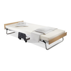 None - Jay-be J-bed Memory Foam Folding Bed - The Jay-Be J-Bed� brings together the most innovative technologies to create one of the most luxurious folding guest beds imaginable. Made using the finest materials,the anodized aluminum frame is lightweight and sits on premium 360-degree castors.