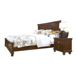 Standard Furniture - Standard Furniture Essex 5 Piece Panel Bedroom Set in Rich Dark Merlot - Essex has updated and streamlined Louis Philippe design styling with a decidedly contemporary attitude.