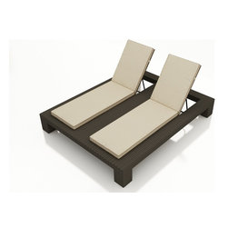 Hampton Wicker Double Chaise Lounge - The Hampton Outdoor Wicker Double Chaise Lounge by Forever Patio (FP-HAM-DACL) is the perfect addition to your outdoor patio, and the perfect complement to your outdoor wicker sofa set! This beautiful outdoor wicker lounge is made of polyethylene in an espresso finish with an aluminum frame for durability. Includes a three-year warranty on the wicker and 4-year warranty on the frame. Premium Sunbrella® cushions included in the fabric of your choice.