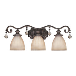 World Imports - World Imports 1683-89 Avila Bronze 3 Light Vanity - World Imports 1683-89 Avila 3-Light Bath in Bronze