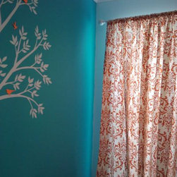 Custom Made Sweet Potato Orange Damask Curtains By babylovin - Custom-made is the way to go! This is a beautiful and classic damask.