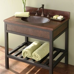 "Native Trails Cuzco in Antique - Overall dimensions: vanity 24"" x 21.5"" x 32"". Counter top & faucet not included"