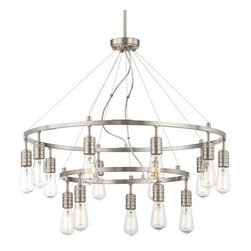 Minka Lavery - Minka Lavery 1137 15 Light 2 Tier Chandelier from the Downtown Edison Collection - Fifteen Light Two Tier Chandelier from the Downtown Edison CollectionFeatures: