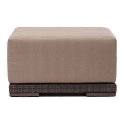 Zuo Modern - Zuo Modern Park Island Outdoor Ottoman X-320307 - Sit in comfort on the Park Island Ottoman. Made from an aluminum frame with a polypropylene weave. The overstuffed cushions are UV and water resistant. Sink into the Park Island and enjoy!