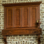 Shutter door tv cabinet - Mediterranean - jacksonville - by Paravan Wood Design
