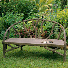 Traditional Outdoor Benches by Charleston Gardens