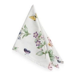 Lenox - Lenox Butterfly Meadow Napkin - Turn any meal into a special occasion with this beautiful quilted placemat and coordinating napkin.