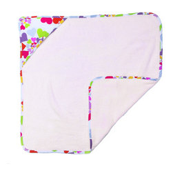 Heart Throb Hooded Towel - Your baby girls heart will throb over this fun hooded towel made with designer fabric back swirling with multi-colored hearts. This item is completely made of cotton poplin.
