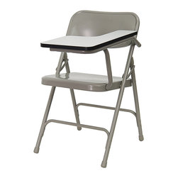 Flash Furniture - Premium Steel Folding Chair with Left Handed Tablet Arm - The 309 Series Tablet Arm Chair is at the top of the line with premium grade steel construction to withstand years of use. This tablet arm chair can be used in the school/ training room/ sports facilities and other environments where individual seating is needed with the added bonus of a tablet arm.