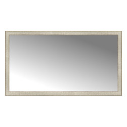 """Posters 2 Prints, LLC - 56"""" x 31"""" Libretto Antique Silver Custom Framed Mirror - 56"""" x 31"""" Custom Framed Mirror made by Posters 2 Prints. Standard glass with unrivaled selection of crafted mirror frames.  Protected with category II safety backing to keep glass fragments together should the mirror be accidentally broken.  Safe arrival guaranteed.  Made in the United States of America"""