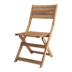 ÄPPLARÖ Folding chair - Folding chair, acacia