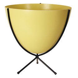 Hip Haven - Retro Bullet Planter by Hip Haven, Sunny Yellow, Medium - The Retro Bullet Planter by Hip Haven is a stylish addition to any space. Use it for plants, as an ice bucket, or to hold odds and ends. Our planter is an authentic reproduction of the vintage originals, in shape, size, and the distinctive texture of molded fiberglass. Bowls measure 15.75 inches across the top. Planters will tolerate covered outdoor conditions. Available in two sizes.