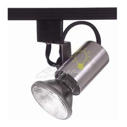 """Model 178 Line Voltage Track Lighting - A classic open """"flatback"""" style, this line voltage track head from WAC Lighting, provides for maximum installation convenience."""