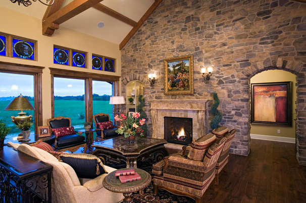Traditional Living Room by Michael Lee, Inc