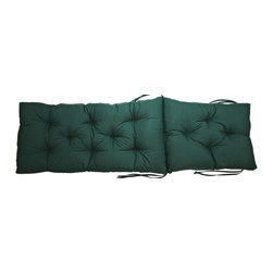 US Bedding - Hunter Green Diamond Tufted Chaise Lounge Cushion - All cushions are designed to fit most sizes of patio furniture and are filled with eco-friendly quick drying polyester fiber fill. Proudly Manufactured in the USA.