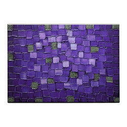 Matthew's Art Gallery - Oil Painting Abstract Modern Wall Decor Purple Squares - The Painting:  Purple Squares