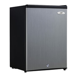 Sunpentown - Upright Freezer, 2.1 Cu. Ft. - Compact, flush back design offers 2.1 cu.ft. of storage, perfect for those with limited space. Features adjustable thermostat, reversible door and 2 removable wire shelves.