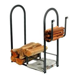 """Enclume - Premier Large Fire Center Log Rack - Dimensions: 33""""L x 13""""W x 34""""H"""