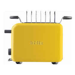 DeLonghi kMix 2-Slice Toaster, Yellow - In case you've ever asked yourself why your toaster doesn't brighten up your kitchen counter, fret no more. This little bit of sunshine has you covered.
