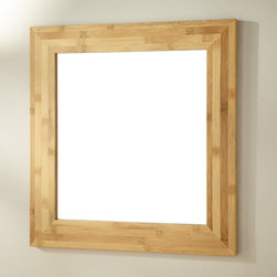 """30"""" Iwan Bamboo Vanity Mirror - With its clean-looking design, the 30"""" Iwan Bamboo Vanity Mirror accentuates a minimalist or modern rustic decor."""