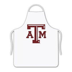 Sports Coverage - Texas A & M Tailgate Apron - Collegiate Texas A&M University White screen printed logo apron. Apron is 100% cotton twill with screenprinted logo. One Size fits all.